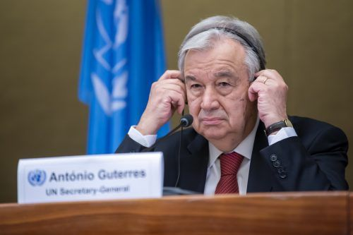 """Zypern-Frage: """"Ich gebe nicht auf"""", sagte UN-Generalsekretär Guterres. AP"""