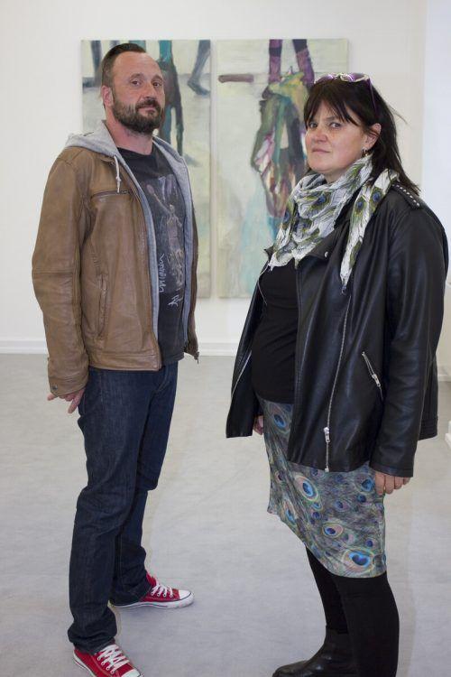Alexander Dölle und Bettina Bohne bei der Eröffnung.