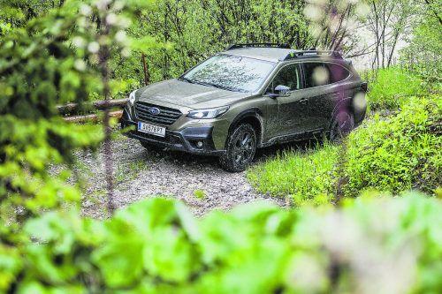 Allradkompetenz: Der neue Subaru Outback überzeugte bei VN-Testfahrten auch abseits befestigter Straßen.Werk