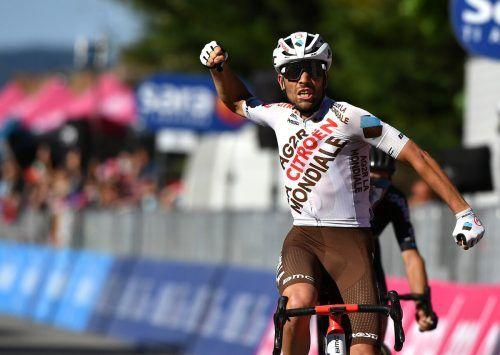 Andrea Vendrame genoss das Gefühl des Sieges in vollen Zügen.afp
