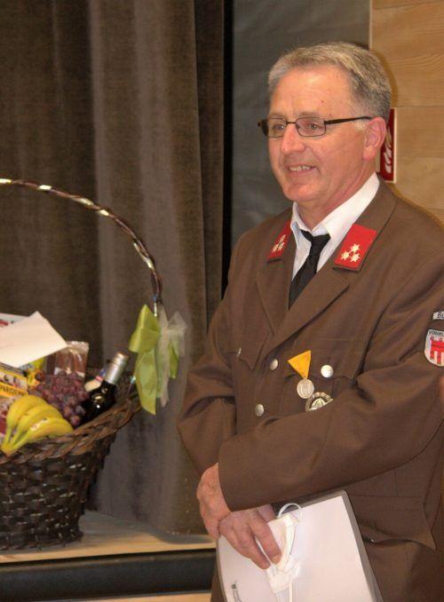 Auch Reinhard Waldinger kann auf die 40-jährige Mitgliedschaft stolz sein.