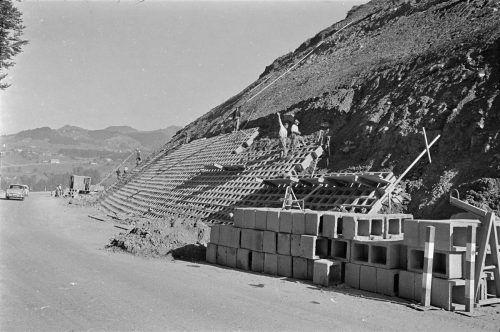 Ausbau der Bundesstraße von Alberschwende nach Egg 1967.