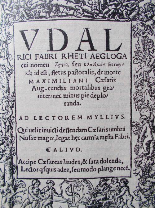 Ausschnitt aus einem Buch Fabris, von dem kein Porträt erhalten ist.DS