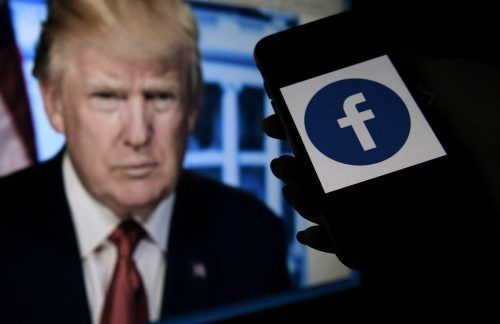 Bald wieder Trump-Postings? Das Online-Netzwerk Facebook muss den Fall binnen sechs Monaten noch einmal überprüfen. AFP