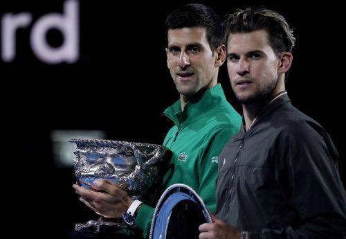 Bei den Australian Open 2020 lieferten sich Djokovic und Thiem einen Finalkrimi.AFP