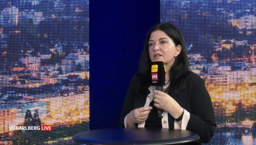 """Bei """"Vorarlberg Live"""" sprach Auer unter anderem auch über Pflege und Kinderbetreuung."""