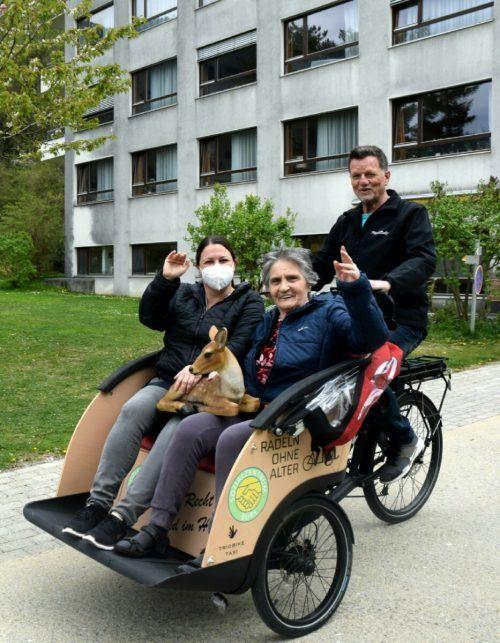 In einer Rikscha soll es künftig für Seniorinnen und Senioren in Bludenz auf große Fahrt gehen.Stadt