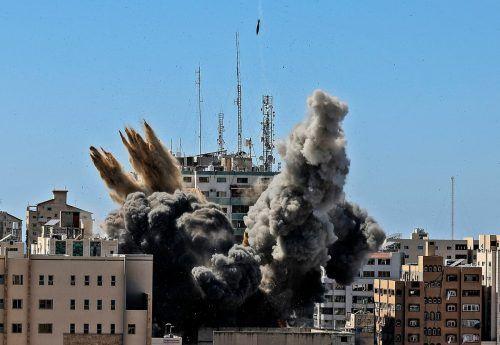 """Bombardements der Israelis im Konflikt mit Palästina werden auf ihre """"Verhältnismäßigkeit"""" unter die Lupe genommen. AFP"""