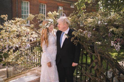 Boris Johnson hat seine Lebensgefährtin Carrie Symonds in einer geheimen Zeremonie geheiratet. Rebecca Fulton / 10 Downing Street / AFP