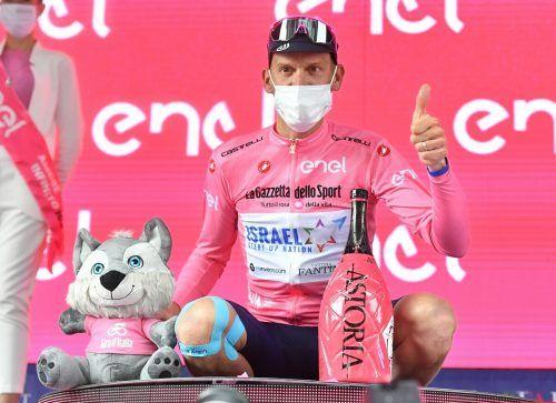Brändle-Teamkollege Alessandro De Marchi durfte in das Rosa-Trikot schlüpfen.afp