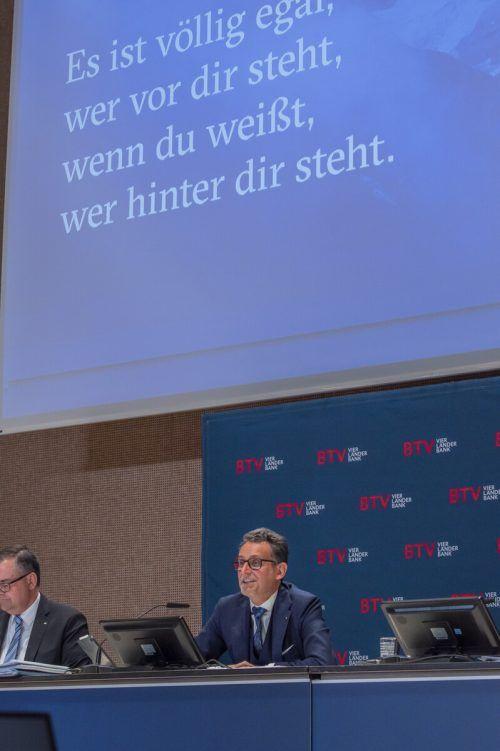 BTV-Chef Gerhard Burtscher bei der Hauptversammlung am Freitag. FA