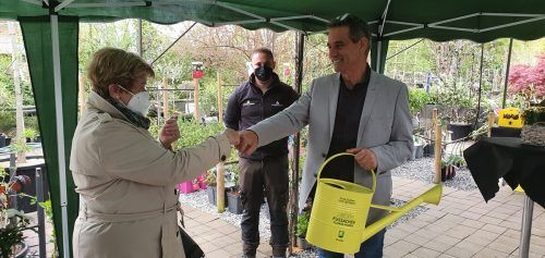 Christine Pratzer und Bürgermeister Peter Böhler.