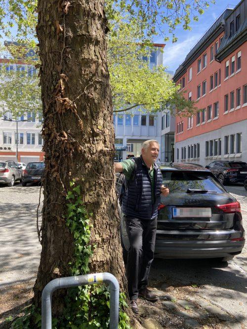 Conrad Amber schätzt Parkplätze, die nicht vollständig betoniert sind.