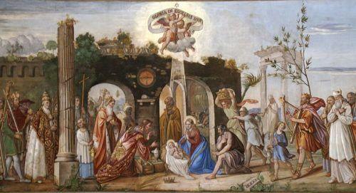 Das Deckengemälde in der Dornbirner Pfarrkirche St. Martin stammt von Johann Kaspar Rick. Diözese Feldkirch