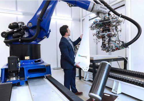 Das Fraunhofer-Institut forscht an neuartigen Schwachwind-Rotoren und Wasserstofftanks. Fraunhofer IAP