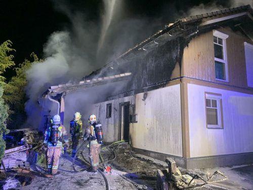 Das Haus in der Lustenauer Sägerstraße wurde durch den Brand zerstört und ist nicht mehr bewohnbar. VOL.AT/PLETSCH