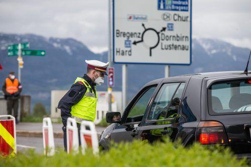 Dem prüfenden Blick der Kontrollorgane werden die Autofahrer im Rheindelta zumindest heute, Dienstag, noch ausgesetzt sein.vn/steurer