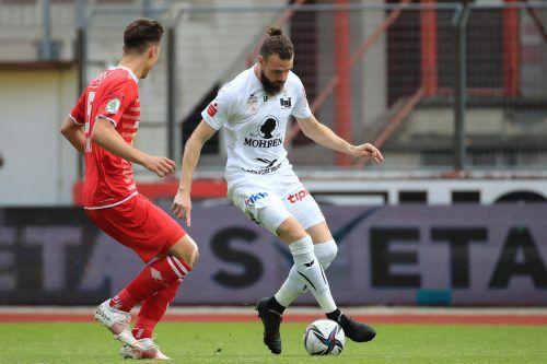 Deniz Mujic avancierte mit seinem Tor zum Matchwinner für den FC Dornbirn.gepa