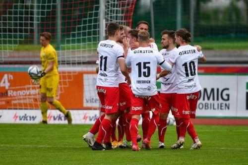 Der FC Dornbirn lieferte gegen Vorwärts Steyr eine ganz starke Partie ab. So will man am Sonntag auch in Kapfenberg auftreten.gepa