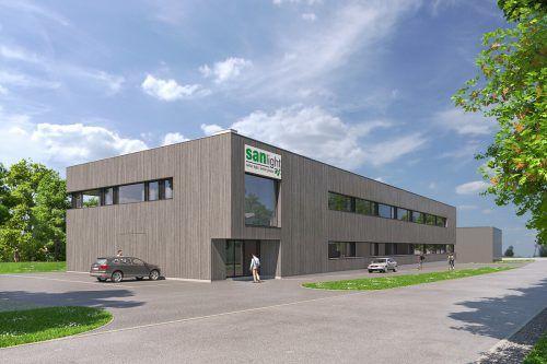 Der geplante neue Firmenstammsitz des Pflanzenleuchtenspezialisten in Schruns. FA