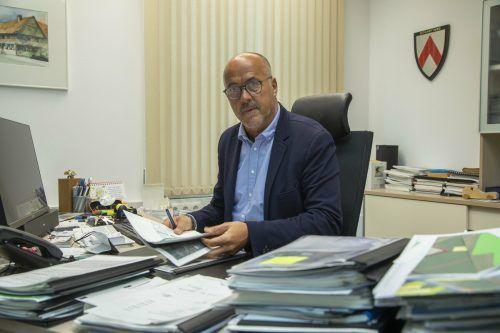 Der Höchster Bürgermeister Herbert Sparr ging sehr entspannt mit der Situation um.