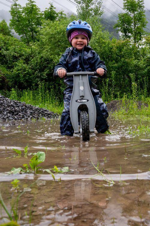 Der Regen muss nicht unbedingt ein Spielverderber sein. VN/Lerch