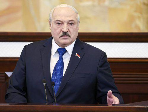 Der weißrussische Präsident erhob schwere Vorwürfe. AP