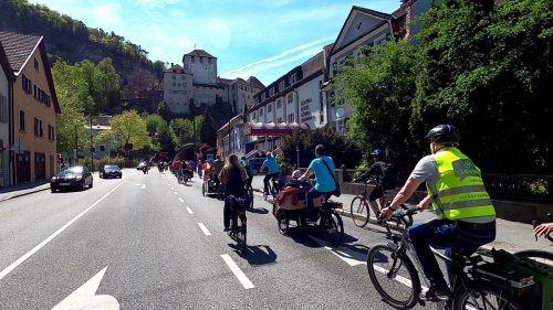 Der Wettergott war den zahlreichen Radfahrern, die sich der von der Radlobby organisierten Sternfahrt anschlossen, äußerst wohlgesonnen.radlobby