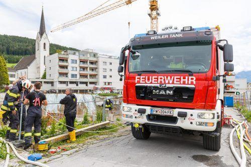 Die Feuerwehr Weiler wurde im Vorjahr zu 25 Einsätzen alarmiert, unter anderem musste die Baustelle der Dorfmitte nach Starkregen leer gepumpt werden.Hofmeister
