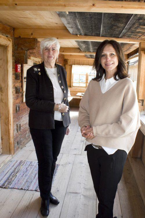 Die Kulturvermittlerinnen Herma Mathis-Karg (l.) und Bernadette Rüscher.