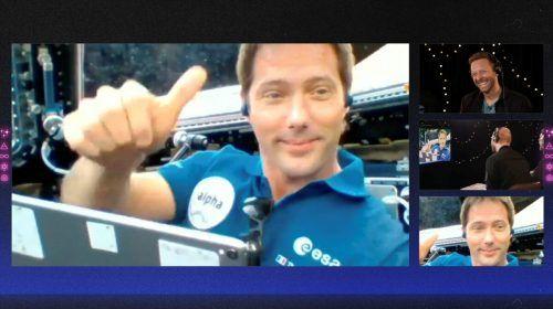 Die Live-Premiere des neuen Songs übernahm ESA-Astronaut Thomas Pesquet. Reuters