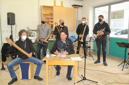 """Die Musiker der Formation """"Kontumaz"""" und die beiden Literaten Thomas Heel und Gerald Rauscher sorgten für ein einzigartiges Erlebnis von Musik und Wort.str"""