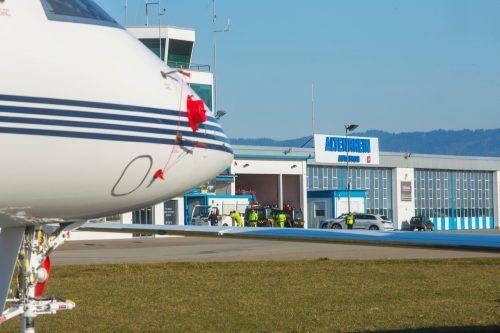 Die Passagierin erlitt nach der Landung in Altenrhein einen Bandscheibenvorfall. VN