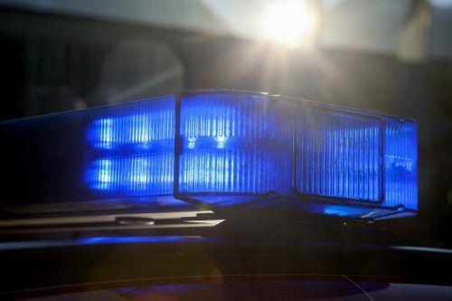 Die Polizei war mit vier Streifen vor Ort. VN/Symbolbild