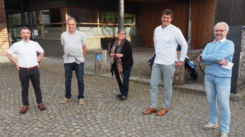 Die REP-Steuerungsgruppe der Gemeinde Zwischenwasser. CEG