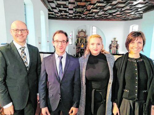 Die Solisten Matthias Haid, Clemens Breuß, Veronika Dünser und Christine Schneider.