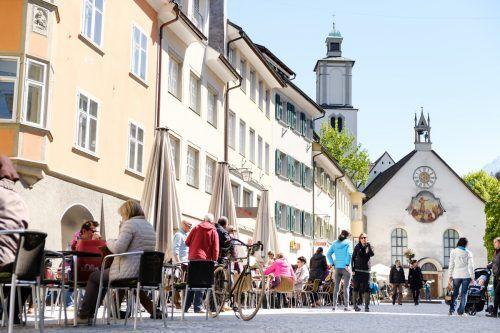 Die Stadt Feldkirch unterstützt ihre Gastronomiebetriebe. Matthias Rhomberg