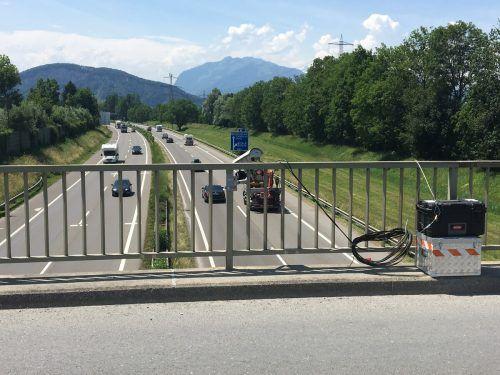 Die Verkehrsflussmessung ergab auf den Autobahnen eine Verkehrsreduktion von bis zu 35 Prozent. VN/RAUCH