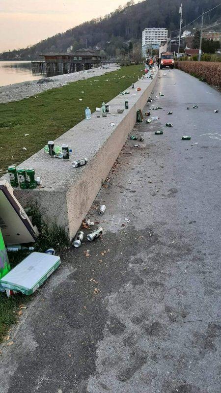 Ein Bild von früher. Doch einmal mehr hinterließen Partygäste an der Bregenzer Pipeline jede Menge Müll. LESERREPORTER/BOSS