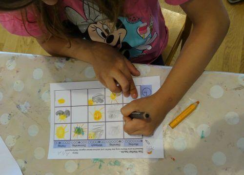 Ein Kind pro Tag war der Wetterfrosch, der die Wetterstatistik führen durfte.