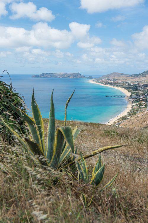 Ein neun Kilometer langer Strand säumt die Küste der kleinen Insel Porto Santo.