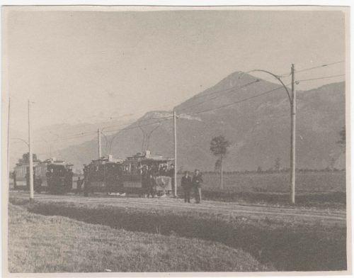 Einen Teil ihres Fluchtwegs von Wien in die Schweiz legten die Geschwister Munk mit der Elektrischen Bahn Dornbirn-Lustenau (EBDL) zurück. Stadtarchiv Dornbirn