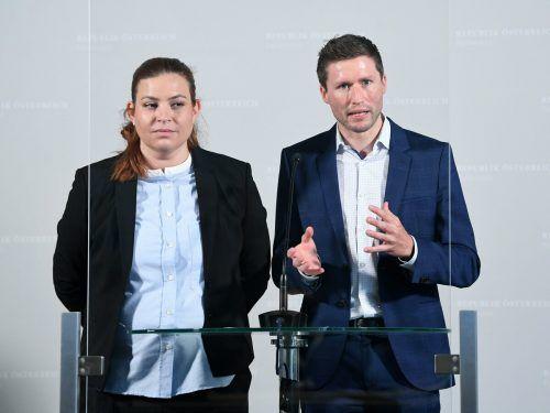 Es sei nicht gelungen, die ÖVP zu überzeugen, so Tomaselli (im Bild mitDavid Stögmüller). APA
