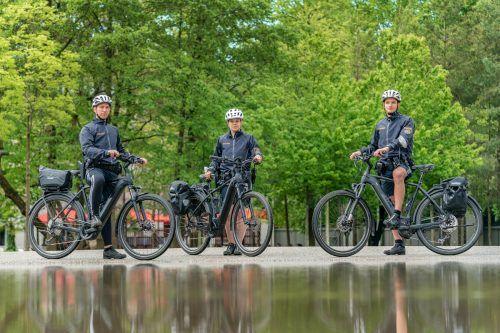 Fahrradpolizei: Das Auge des Gesetzes ist nun auch auf Pedalen auf Streife. STIPLOVSEK