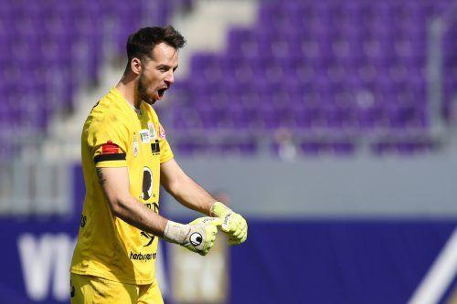 FCD-Goalie Lucas Bundschuh war einer der Väter des Sieges in Wien.gepa