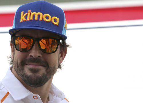 """Fernando Alonso zeigte im zweiten Training in Montmelo mit einem fünften Platz auf. """"Ich muss in der Qualifikation besser werden"""", sagt er vor dem Heim-Grand-Prix.ap"""
