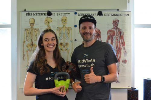 Florian Berlinger und Annina Rinderer ist es wichtig, individuell auf jeden einzelnen Teilnehmer ihrer Fitness-Trainings einzugehen.BI