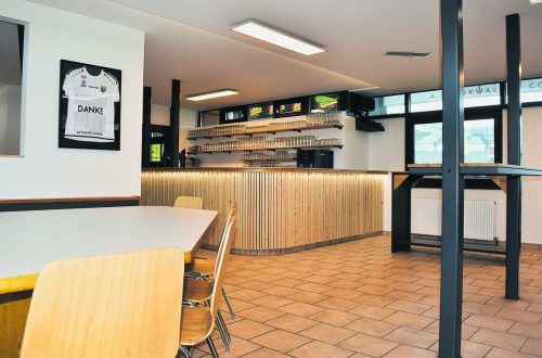 Frisch renoviert zeigt sich das Clubheim in der Cashpoint-Arena.