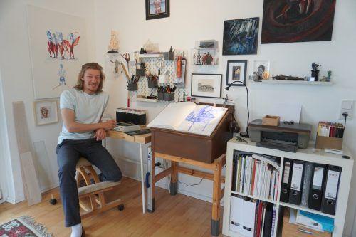 Geordnetes Chaos. Im Atelier von Nikola Bartenbach lässt sich an jeder Ecke etwas Wunderliches entdecken.