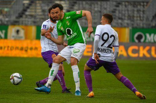Haris Tabakovic ist die heißeste Transferaktie bei Austria Lustenau. Der Angreifer aus der Schweiz verfügt noch über einen Vertrag in Lustenau bis Sommer 2022.gepa